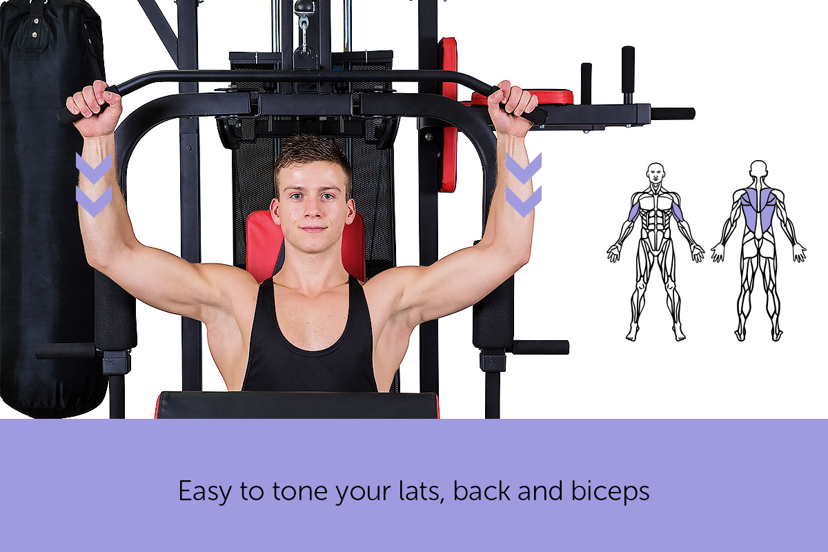 New multi station home gym exercise equipment boxing