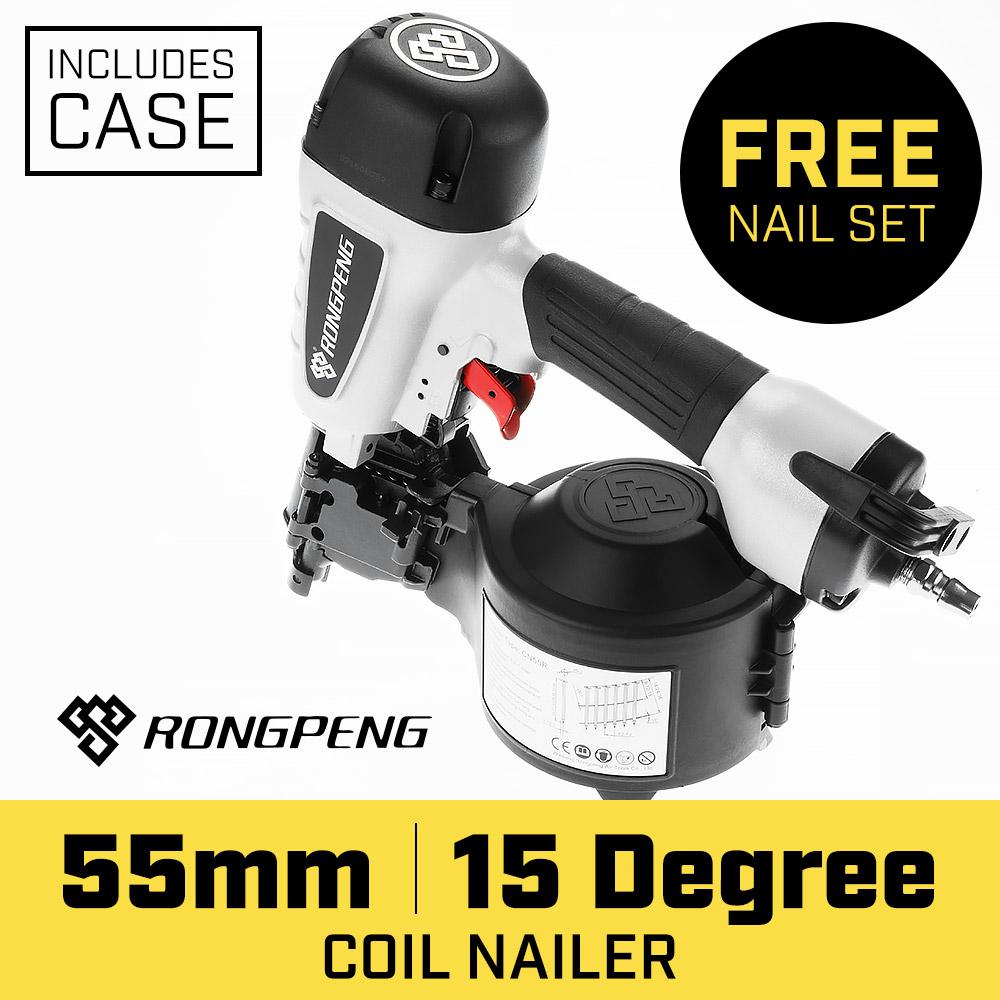 Air Nail Gun Coil Nailer 15deg  25-55mm
