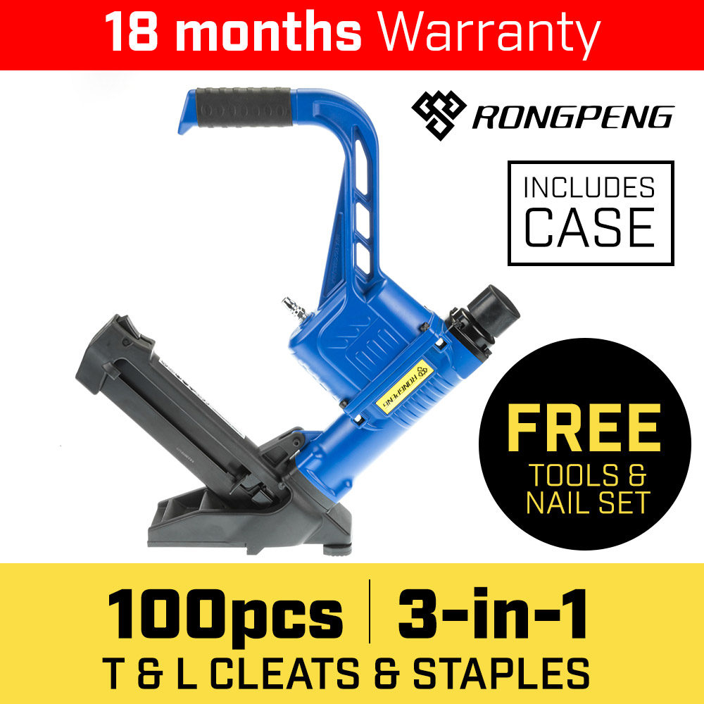 3 in 1 Pneumatic Flooring Air Nail Gun Nailer - $216.3