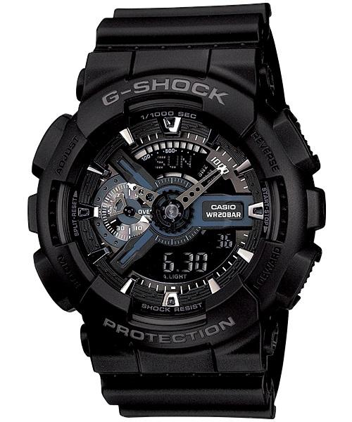Casio G-Shock Analogue/Digital Mens Black Watch GA-110-1B GA-110-1BDR