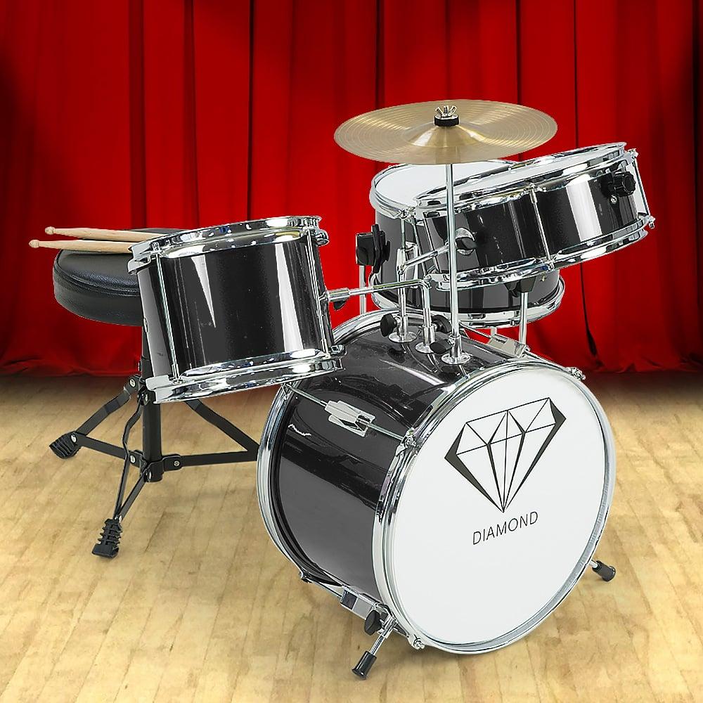 Children's 4pc Drum Kit - Black