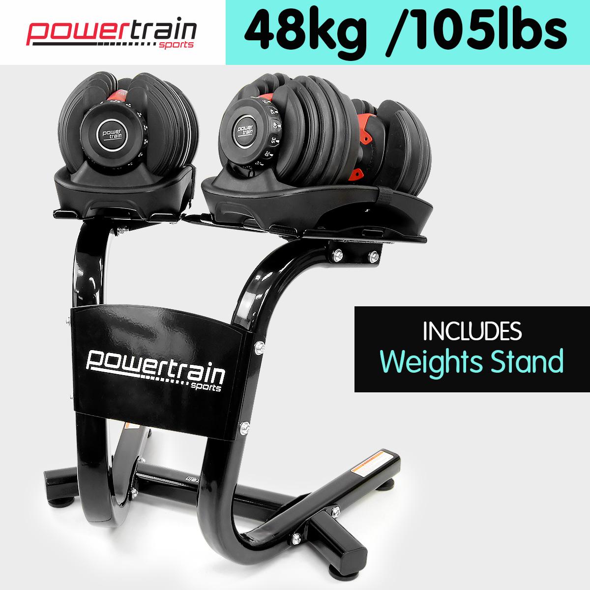 Adjustable dumbbells set home gym exercise equipment free