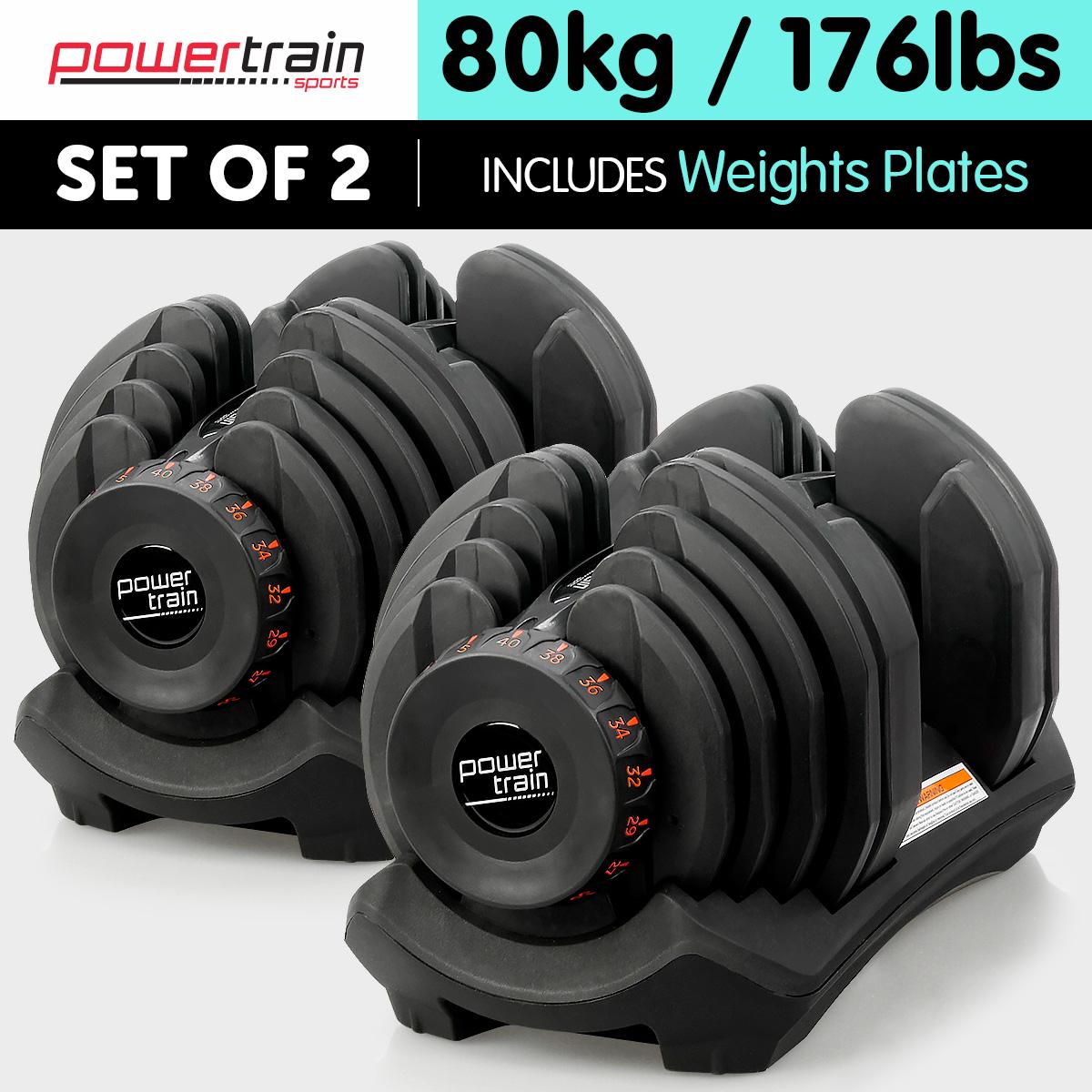 New adjustable dumbbells set home gym exercise equipment