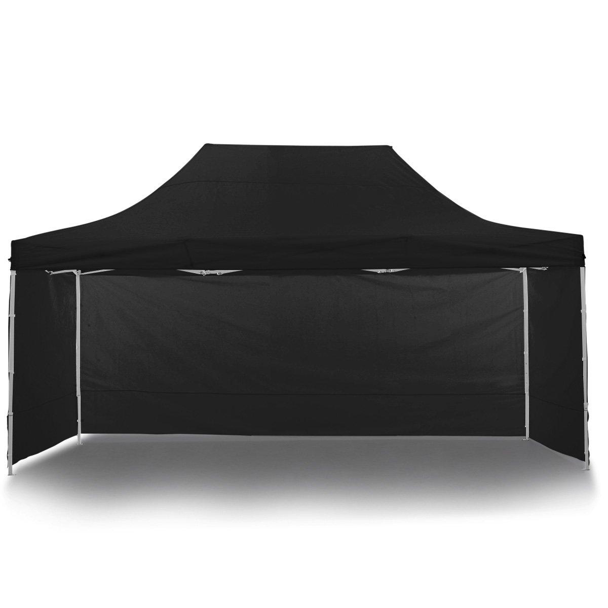Gazebo Tent Marquee 3x4.5m PopUp Outdoor Wallaroo Black