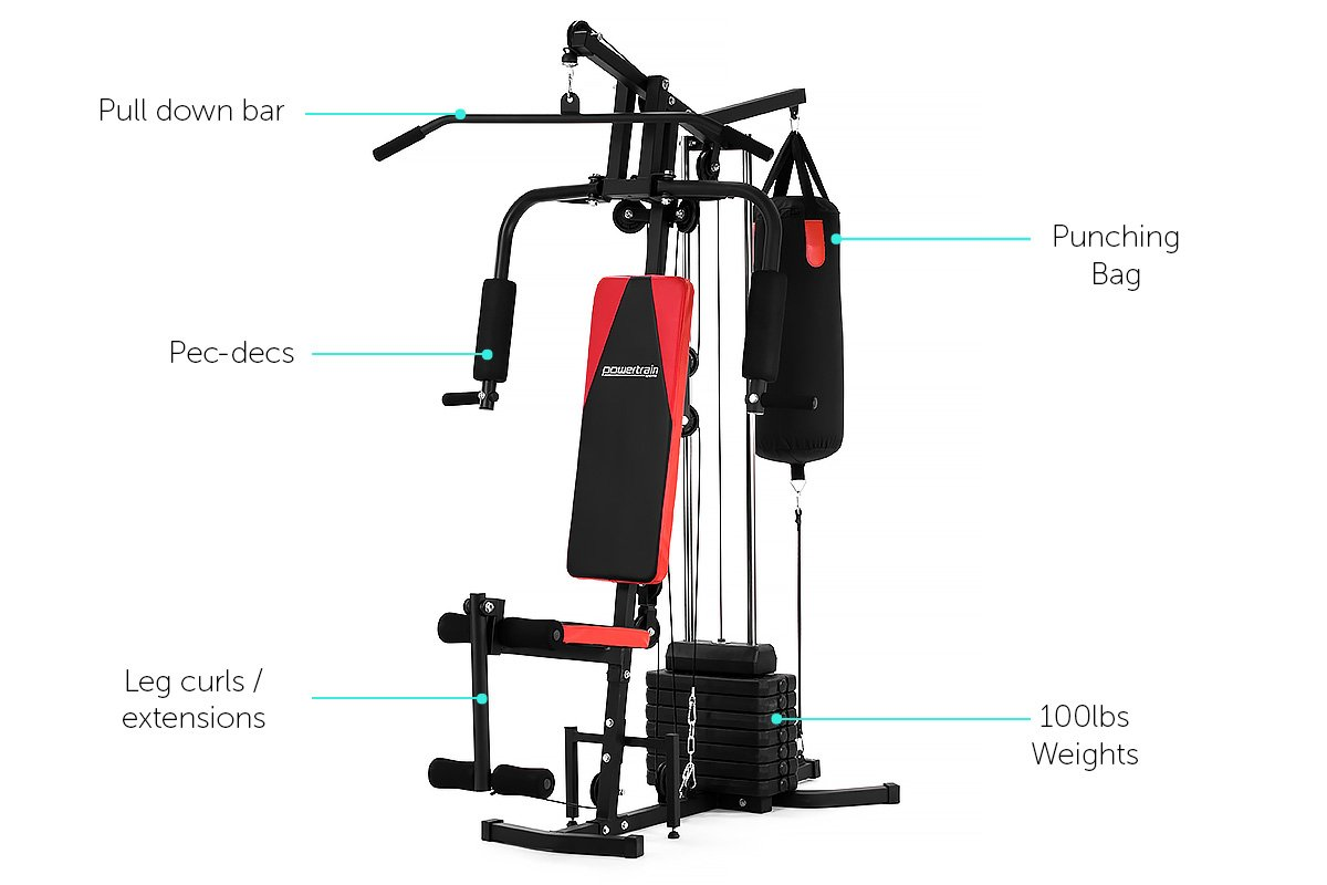 New multistation home gym exercise equipment total workout
