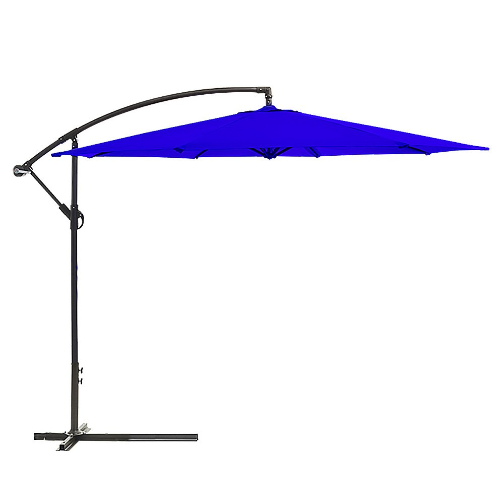 Wallaroo 3m Cantilever Market Outdoor Umbrella - Blue