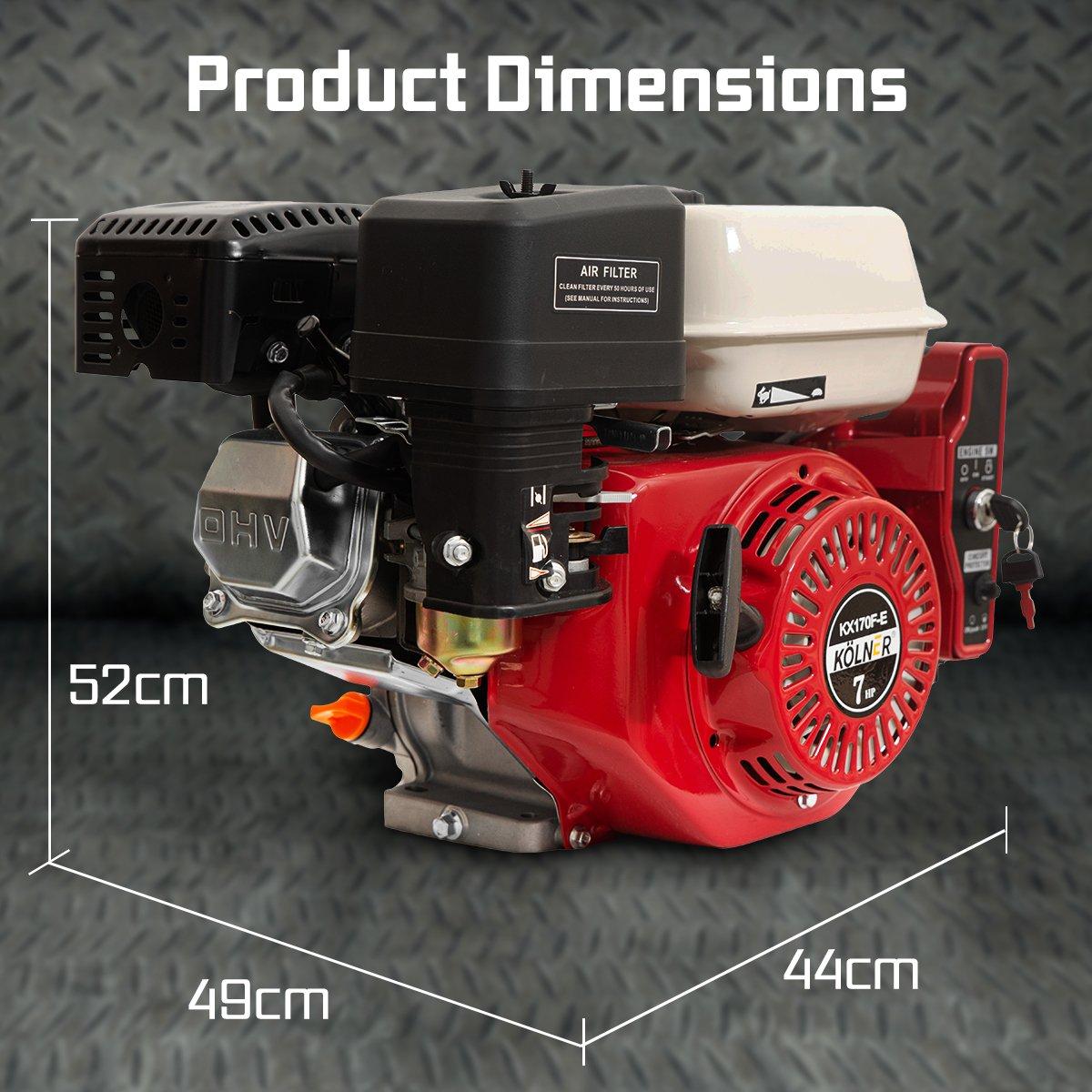 7HP Horizontal Key Shaft Q Type Petrol ENGINE - Electric Start