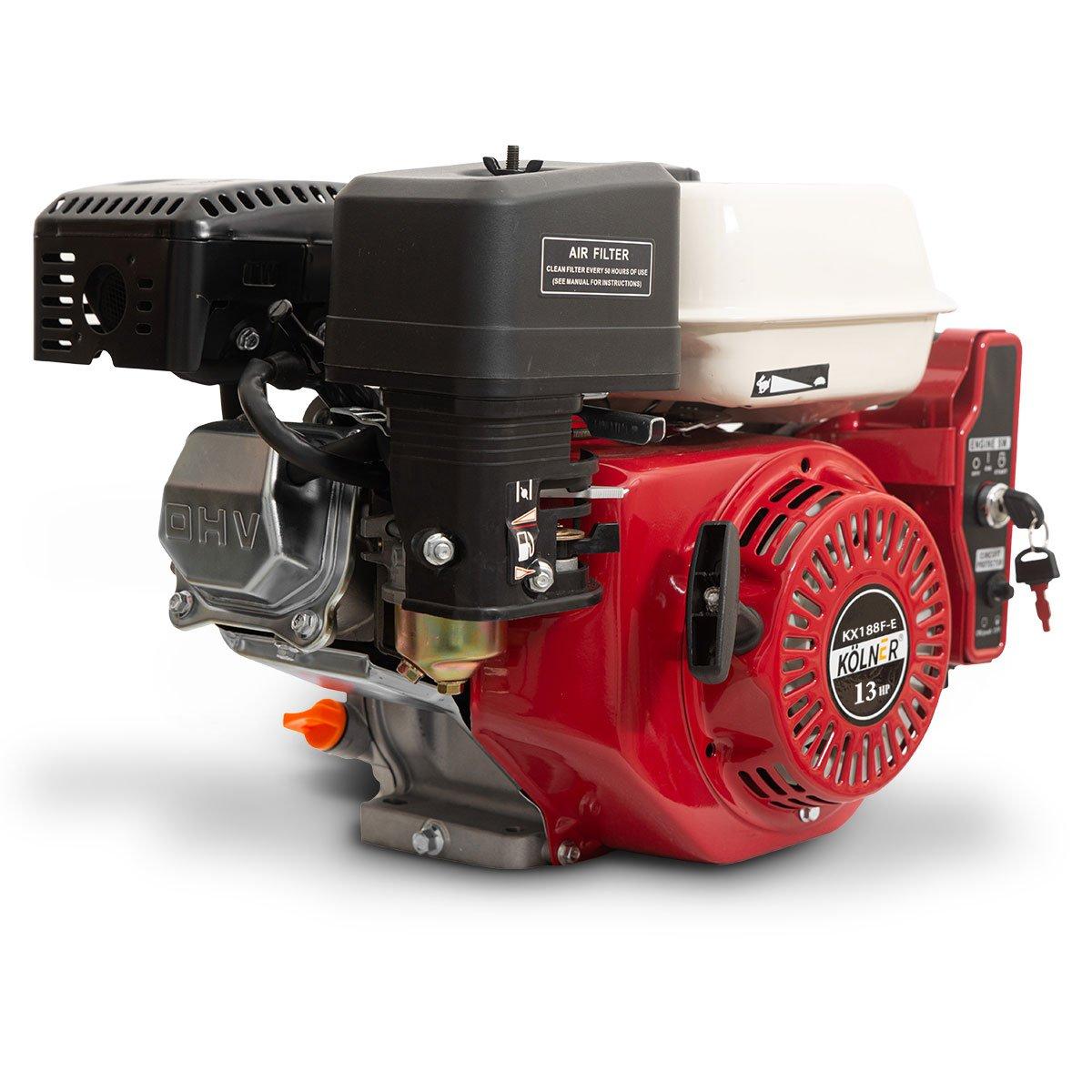 Kolner 13hp 25.4mm Horizontal Key Shaft Q Type Petrol Engine Electric Start