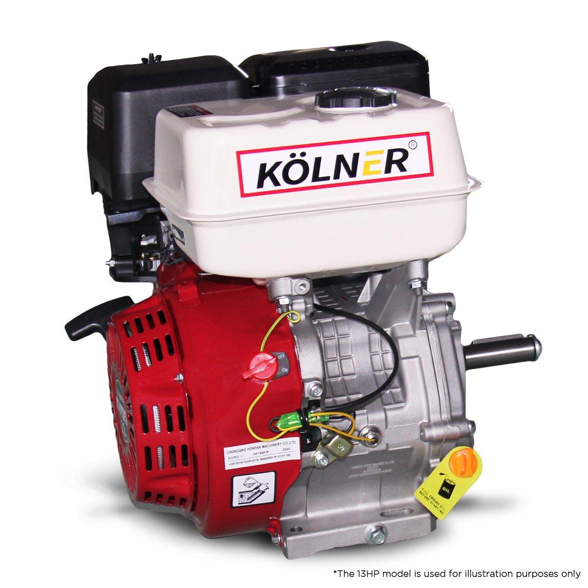 Kolner 16hp 25.4mm Horizontal Key Shaft Q Type Petrol Engine - Recoil Start