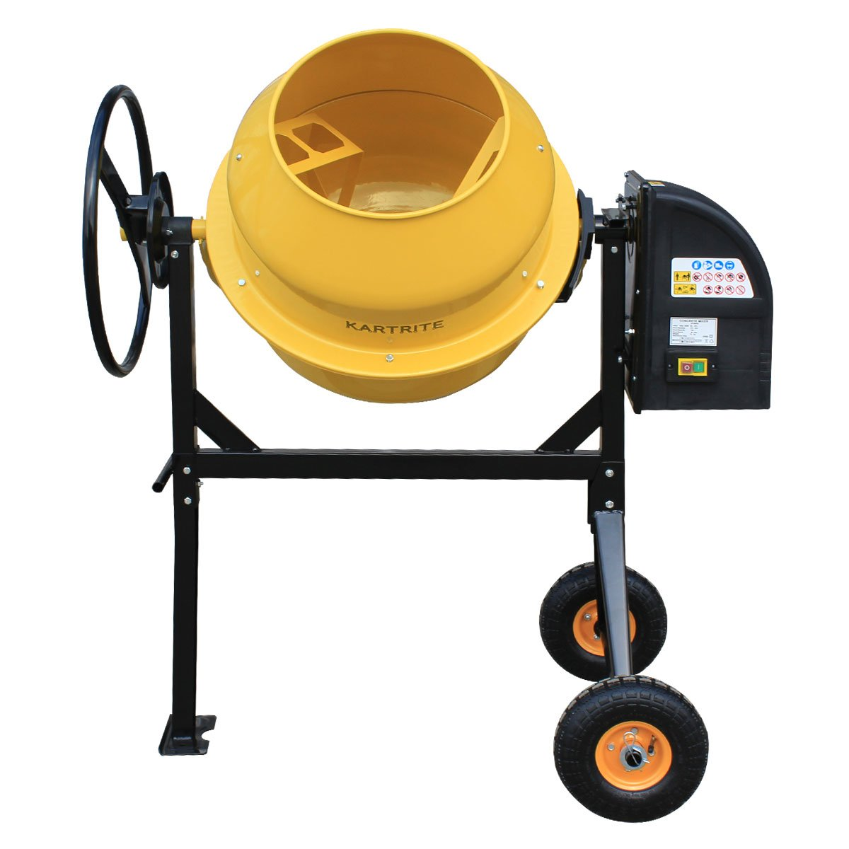 Kartrite 140L Cement Concrete Mixer Sand Gravel Portable 650W