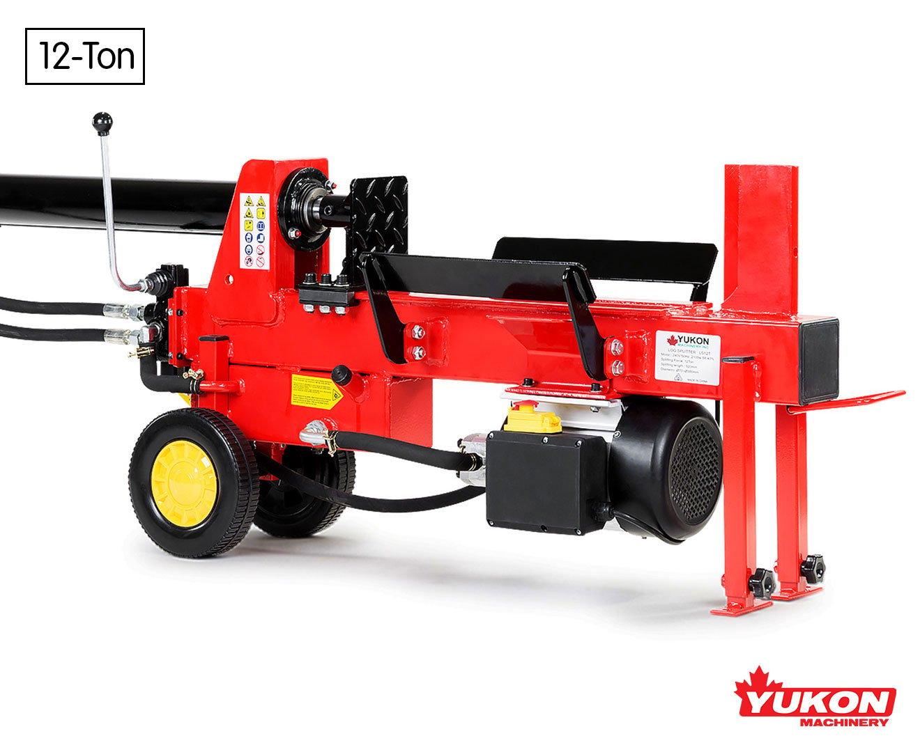 Yukon Electric 12 Ton Log Splitter Wood Cutter