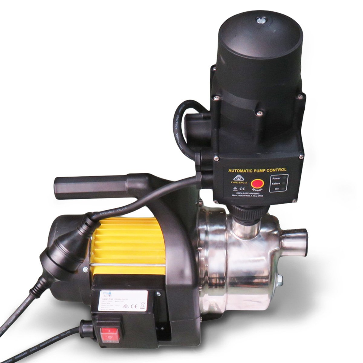 Hydro Active 800w Stainless Auto Water Pump 70A -Yellow - $344.55