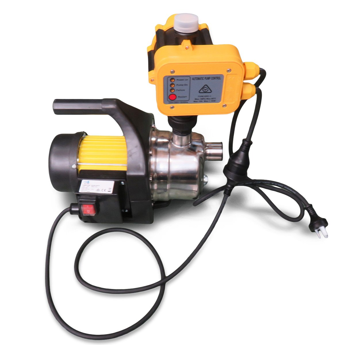 Hydro Active 800w Stainless Auto Water Pump 70B -Yellow - $344.55