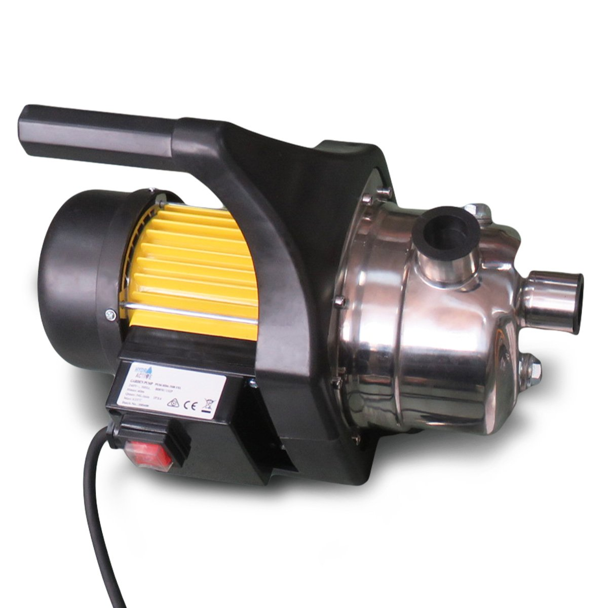 Hydro Active 800w Stainless Auto Water Pump 70B -Yellow