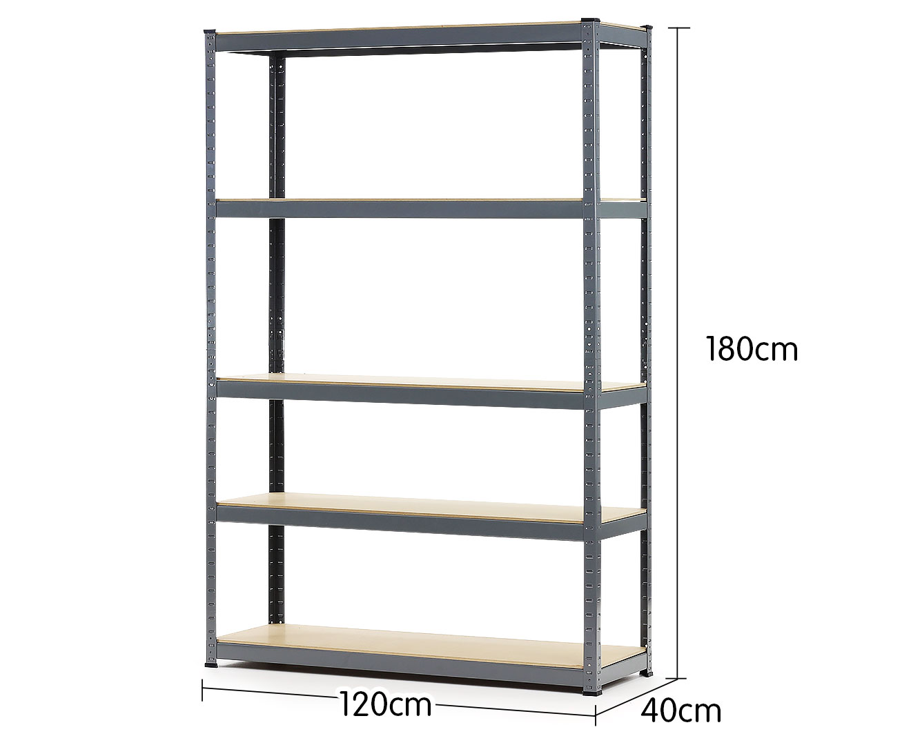 Heavy Duty 5 Shelf Storage Unit - 180 x 120 x 40cm - $212.7