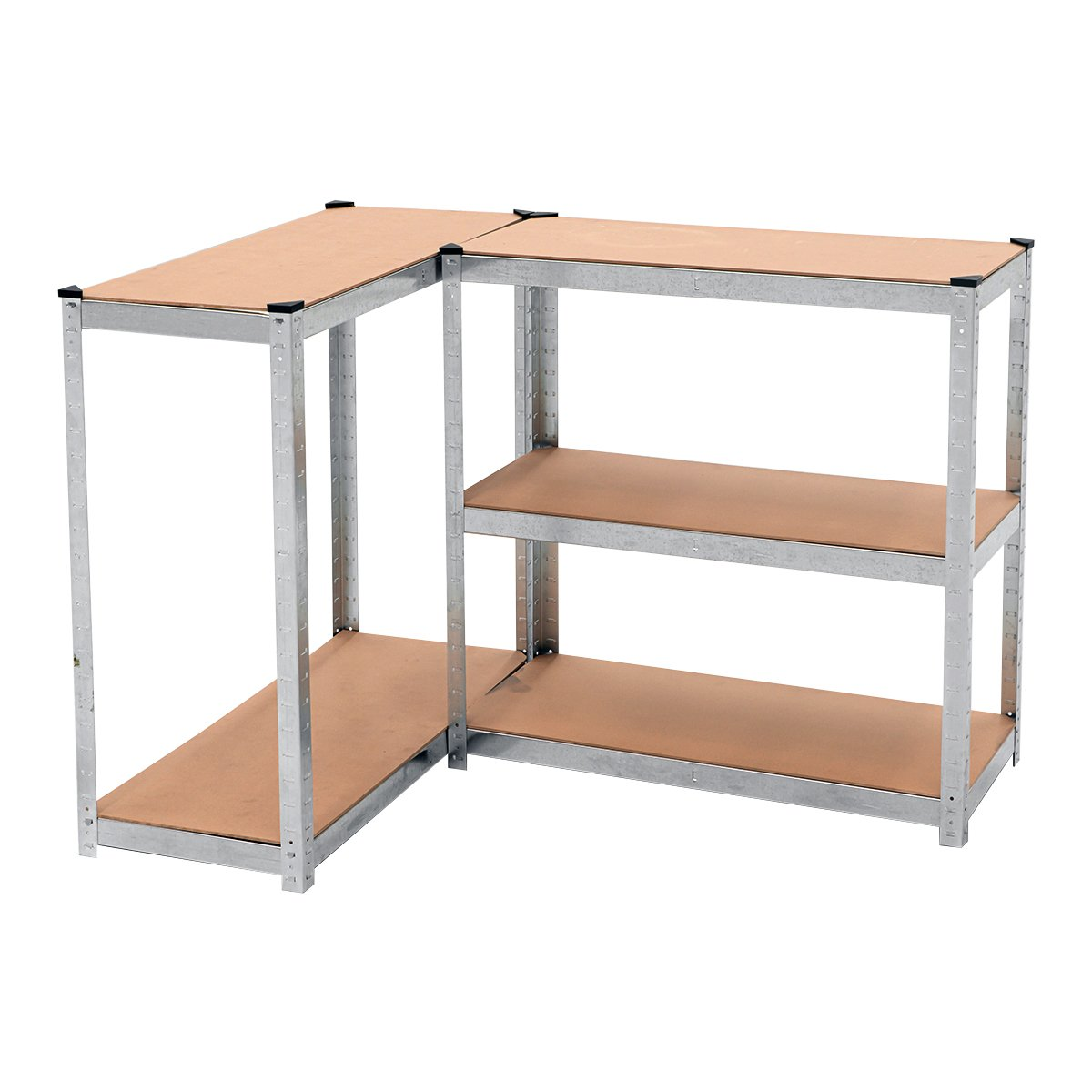 5 Shelf Adjustable Storage Rack Work Table Galvanized Steel 180x90cm