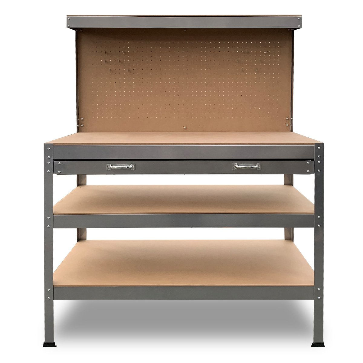 3-Layered Work Bench Garage Storage Table Tool Shop Shelf Silver - $263.9