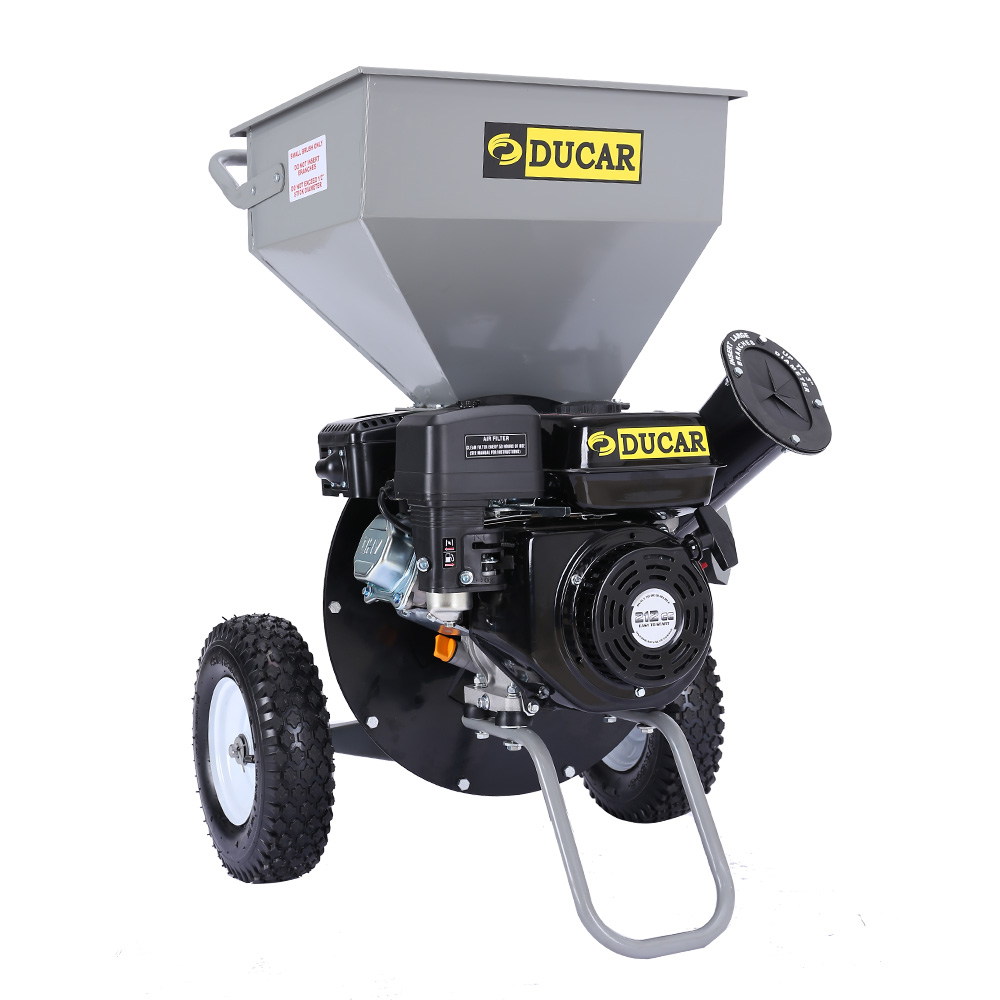 Ducar 8HP Wood Chipper Shredder Mulcher Petrol Silver Black
