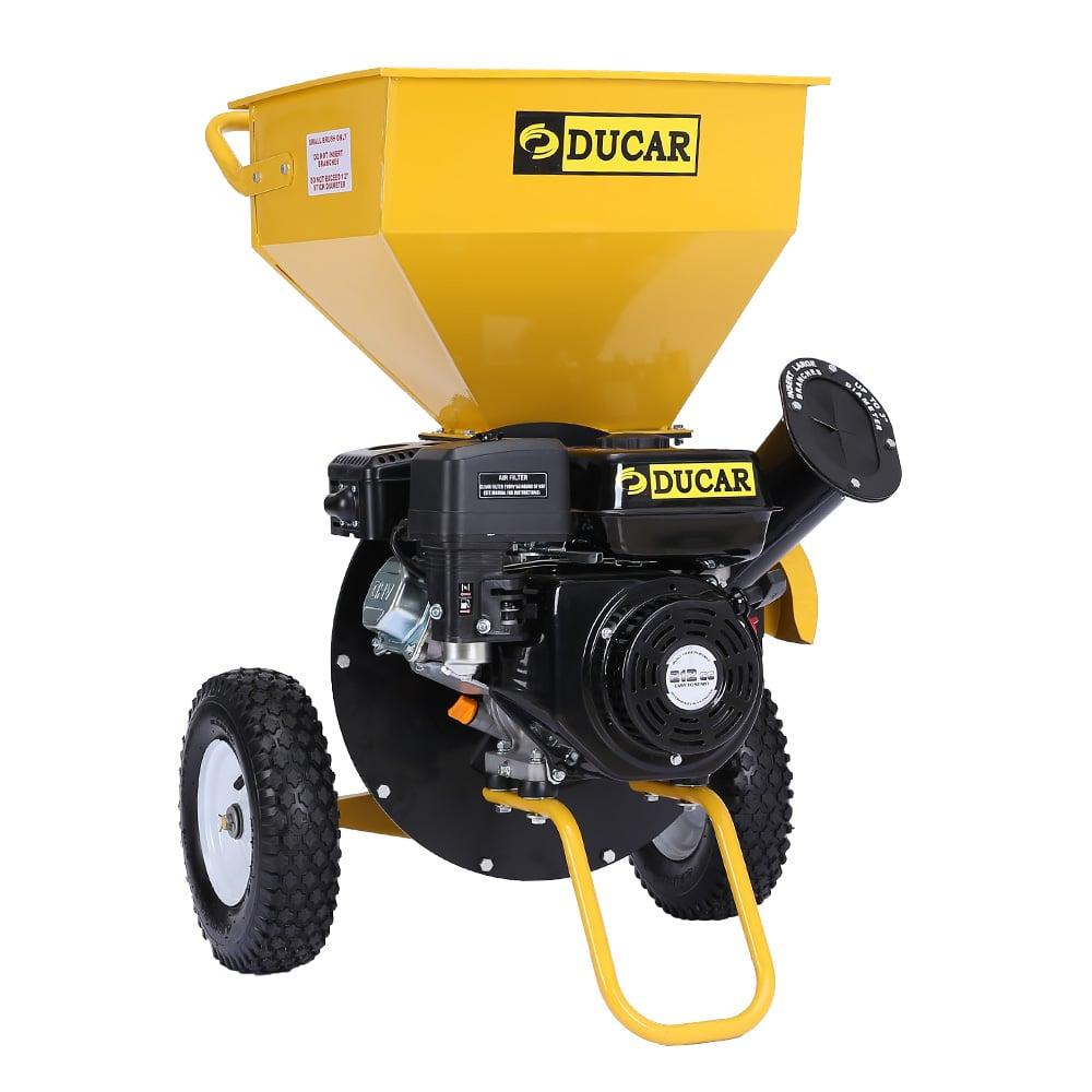 Ducar 8HP Wood Chipper Shredder Mulcher Grinder Petrol Yellow Black