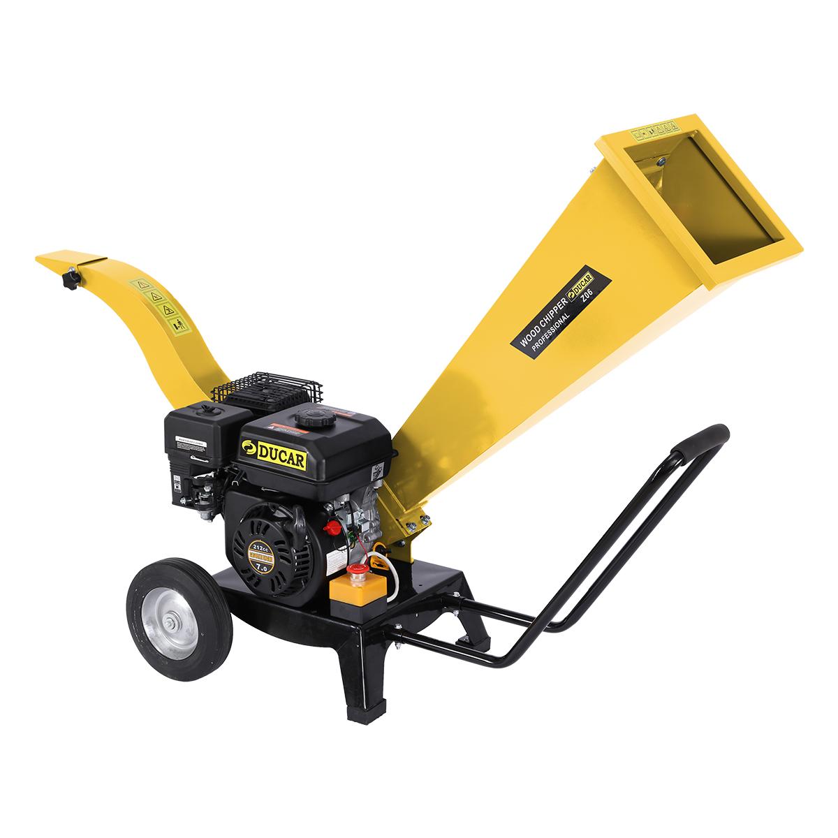 Ducar 7HP Wood Chipper Shredder Mulcher Grinder Petrol Yellow - $975.6