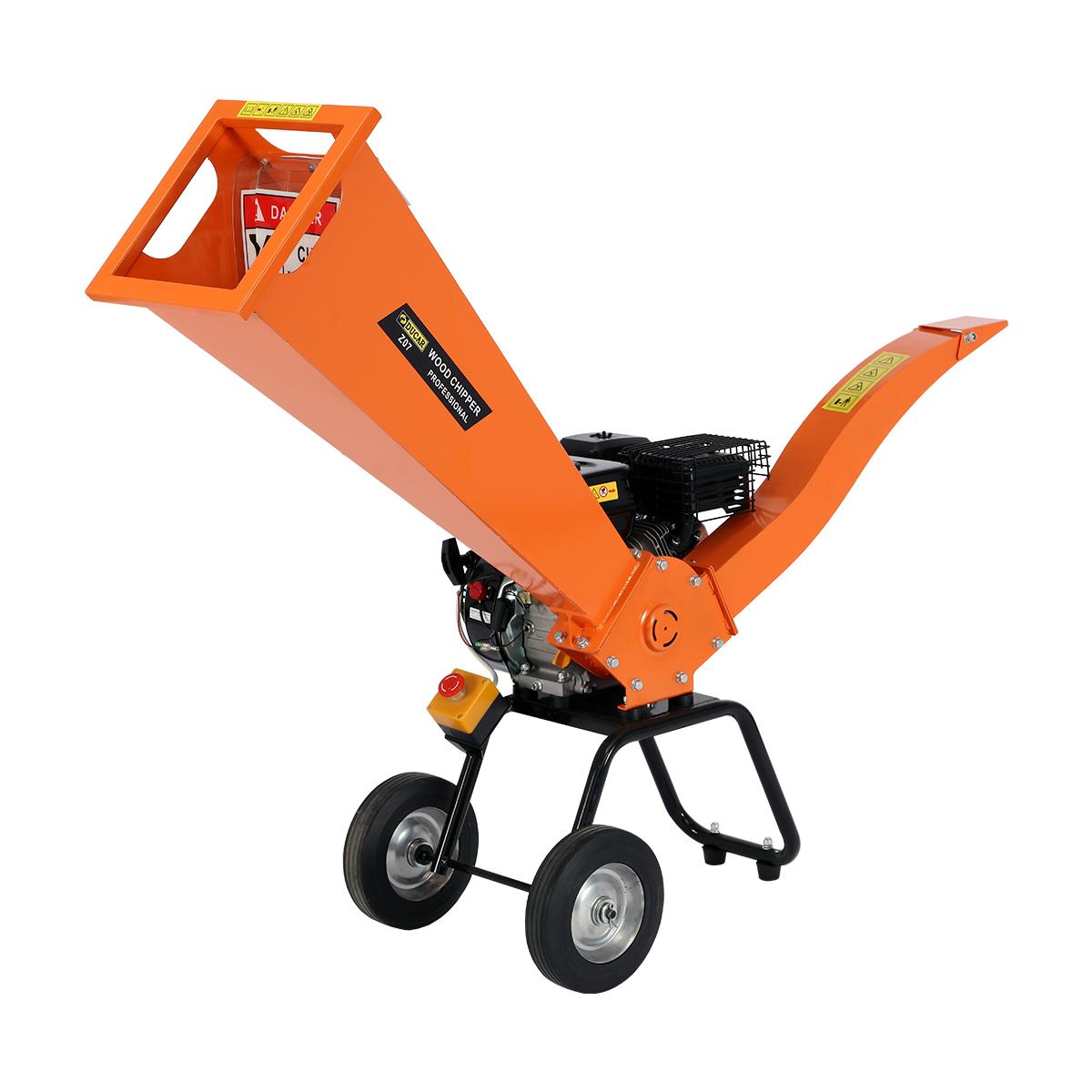 Ducar 7HP Wood Chipper Shredder Mulcher Grinder Petrol Orange