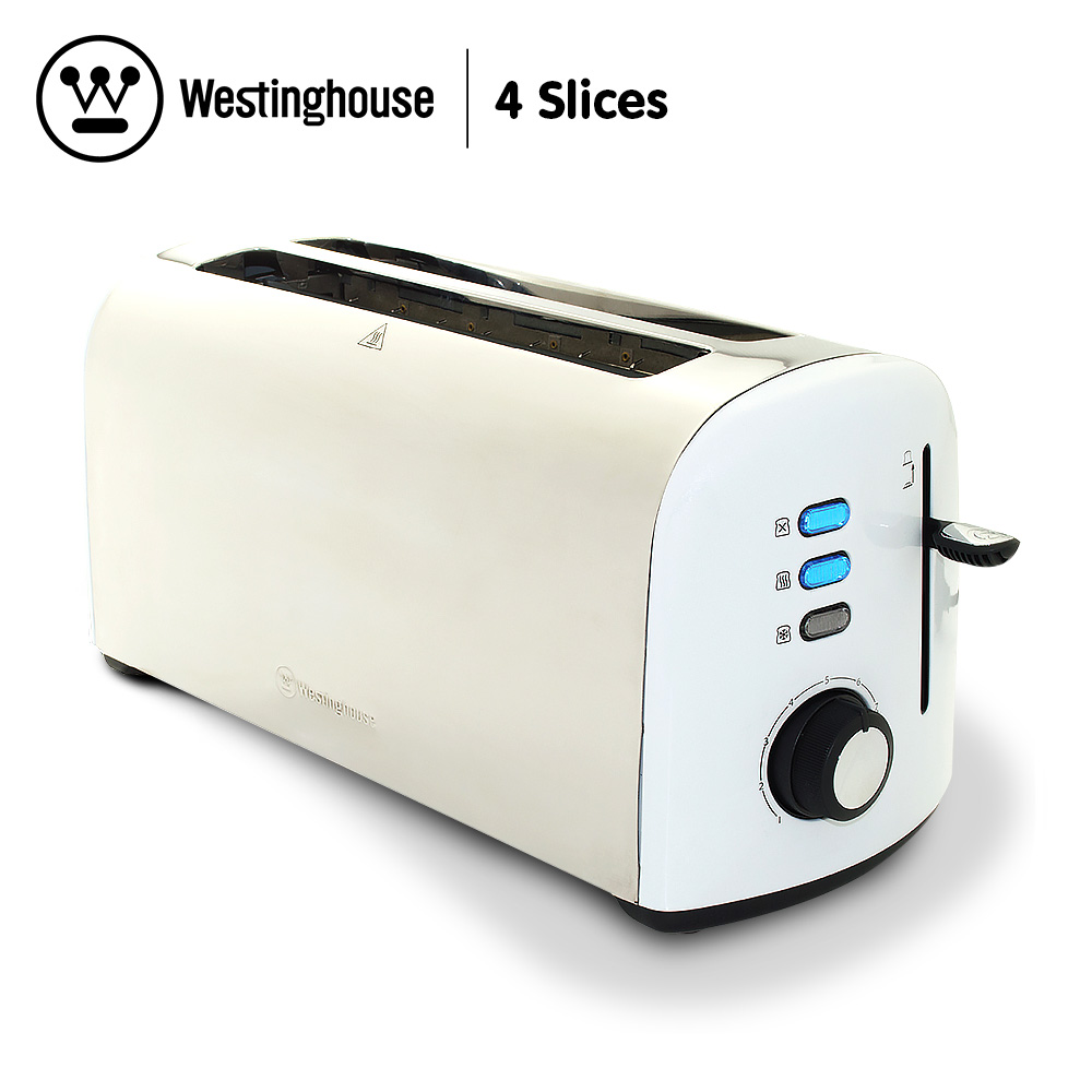 Westinghouse 4 Slice Toaster - Pearl White