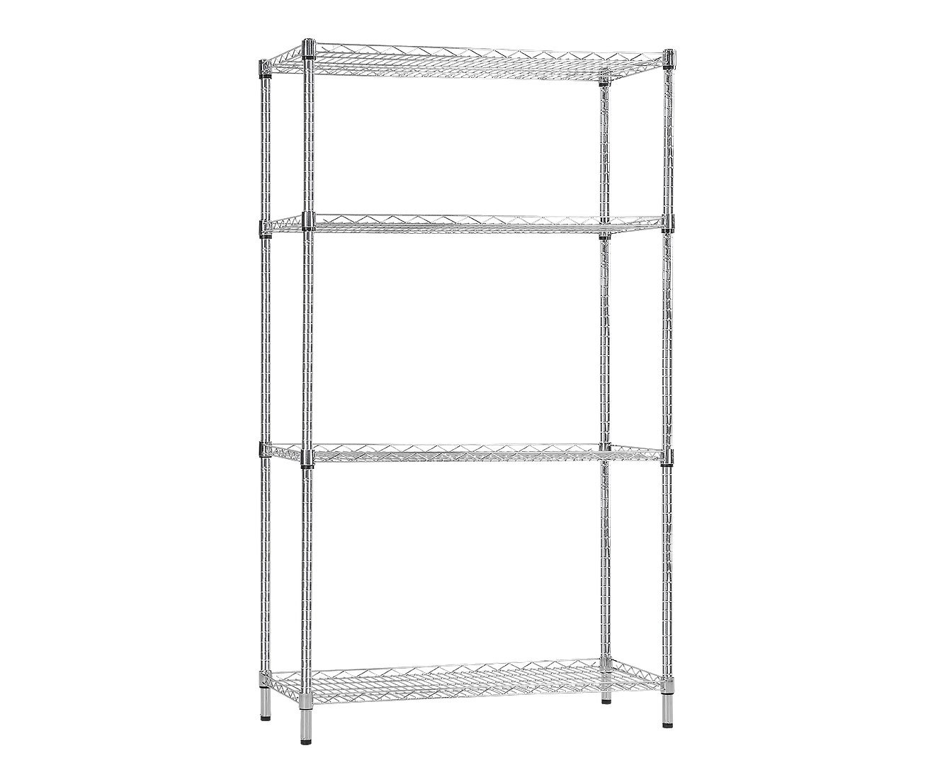 Syncrosteel Chrome Wire Shelving Storage Unit 1200 x 450mm - 1.8m High - $327.9