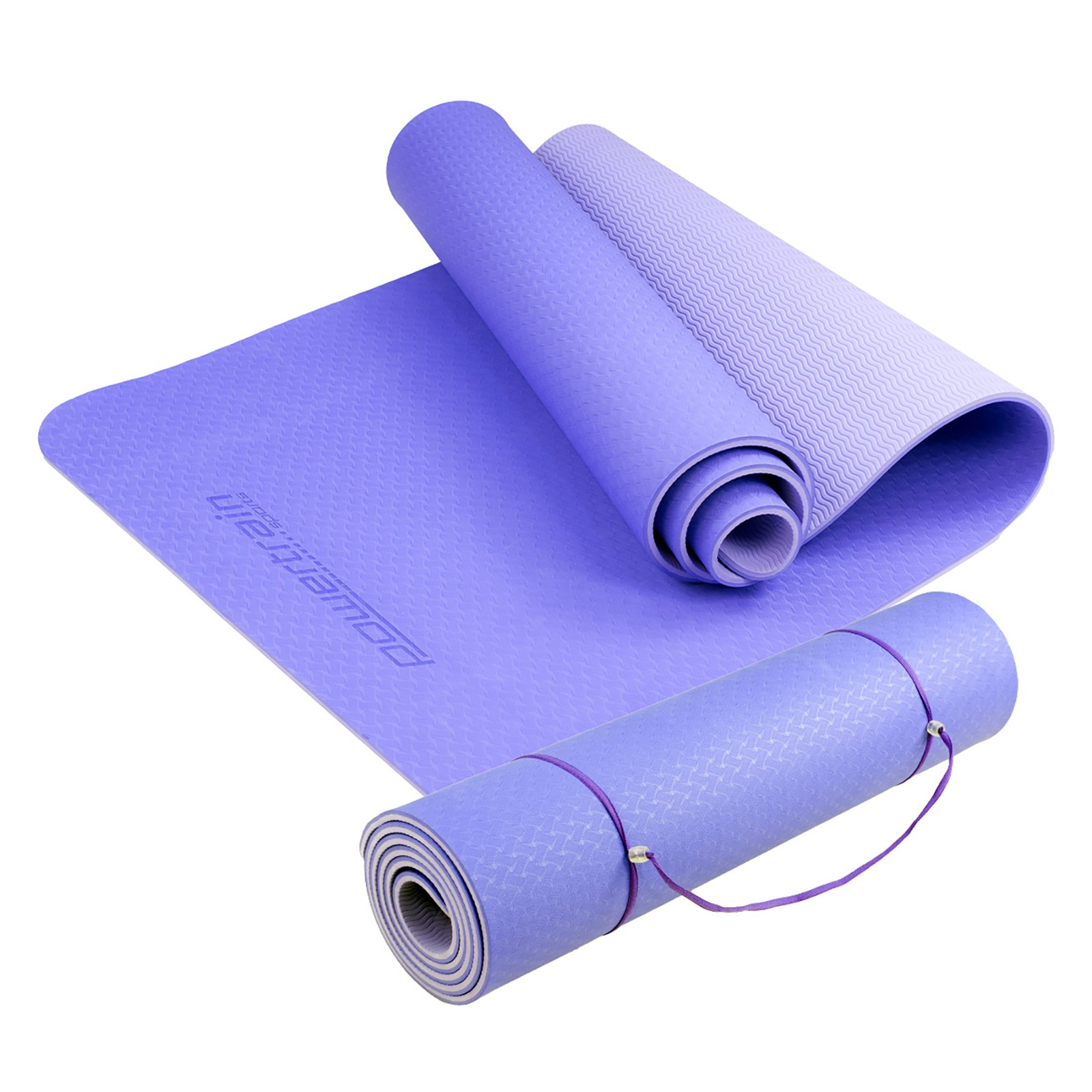 Powertrain Eco Friendly TPE Yoga Exercise Pilates Mat - Blue