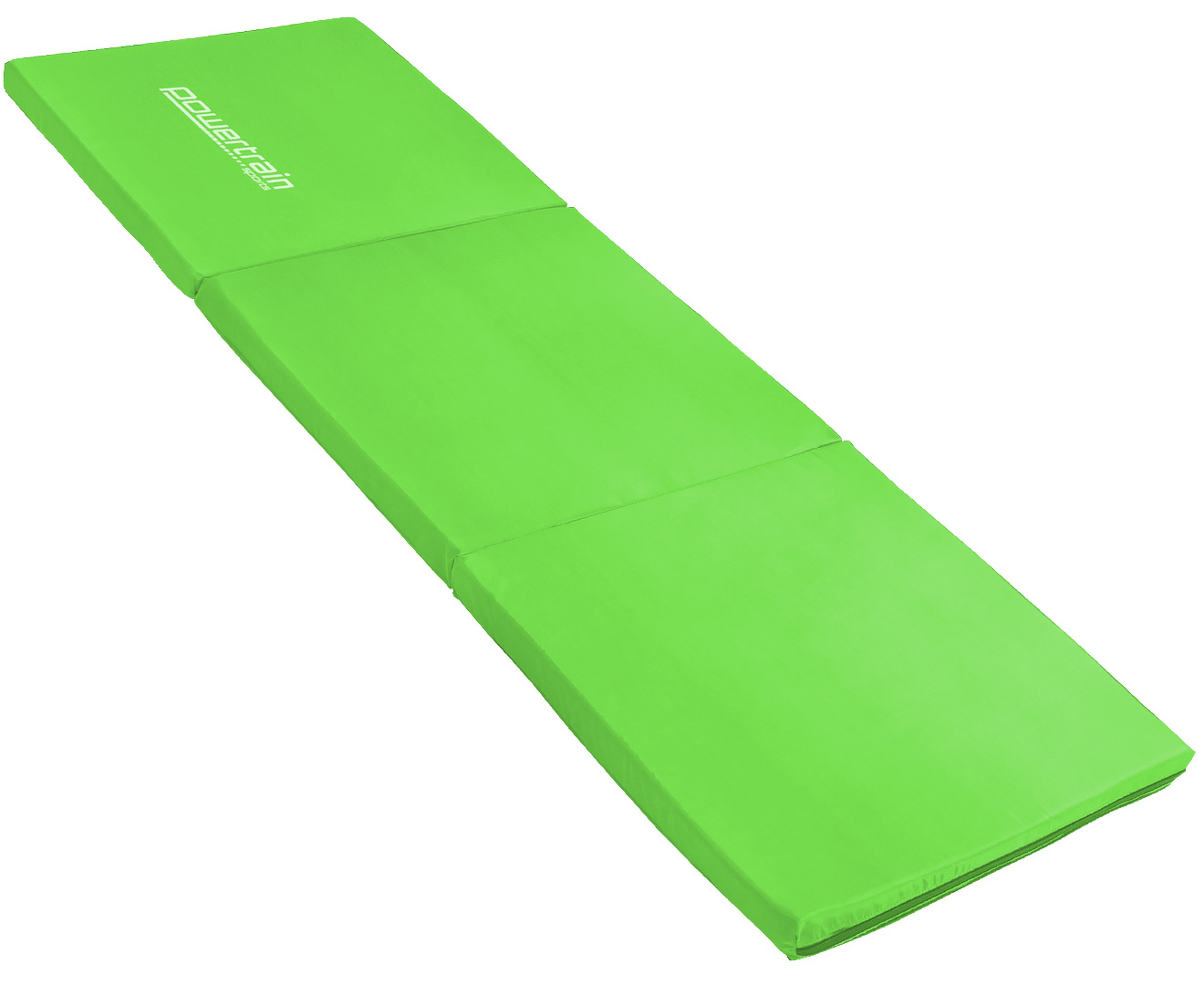 Powertrain Yoga Exercise Tri-fold Mat 180x60x5cm - Green