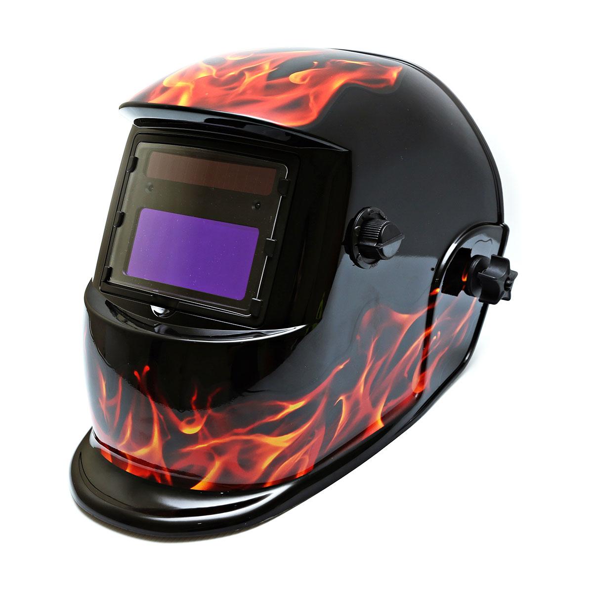 Centurion Solar Auto Darkening Welding Helmet - Fire Flame