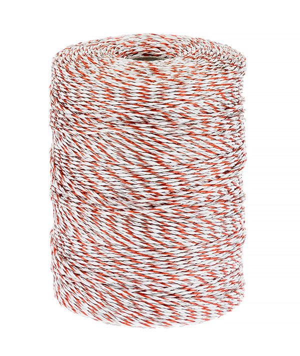 Electric Fence 10 Strand Stainless Steel Polywire Rope - 500m Roll