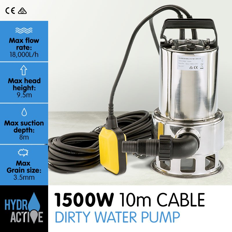 HydroActive Submersible Dirty Water Pump - 1500W - $126.7