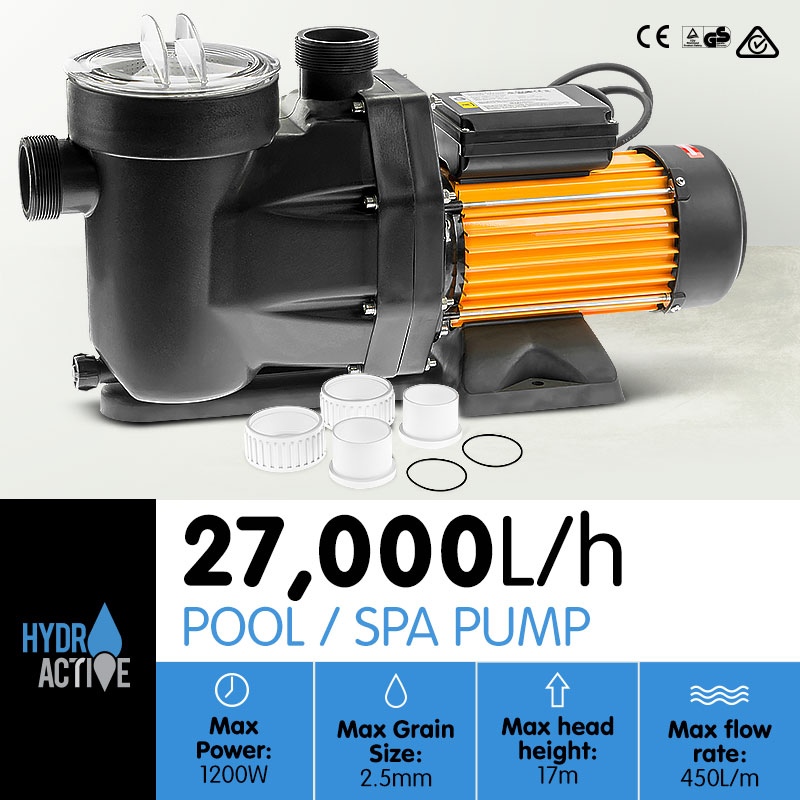 HydroActive Swimming Pool Water Pump - 1200W - $229.1