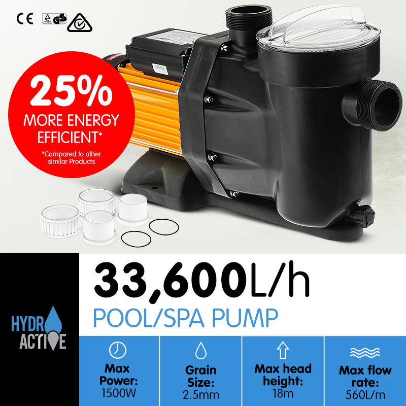 HydroActive Swimming Pool Water Pump - 1500W - $253.45