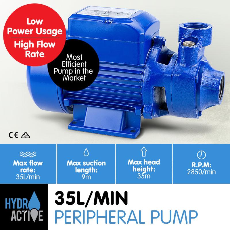 HydroActive 370W Clean Water Pump - Blue