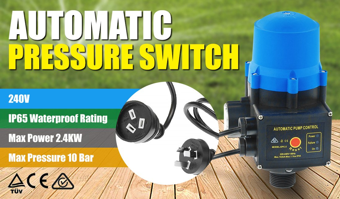 Automatic Water Pump Pressure Switch Controller - Blue
