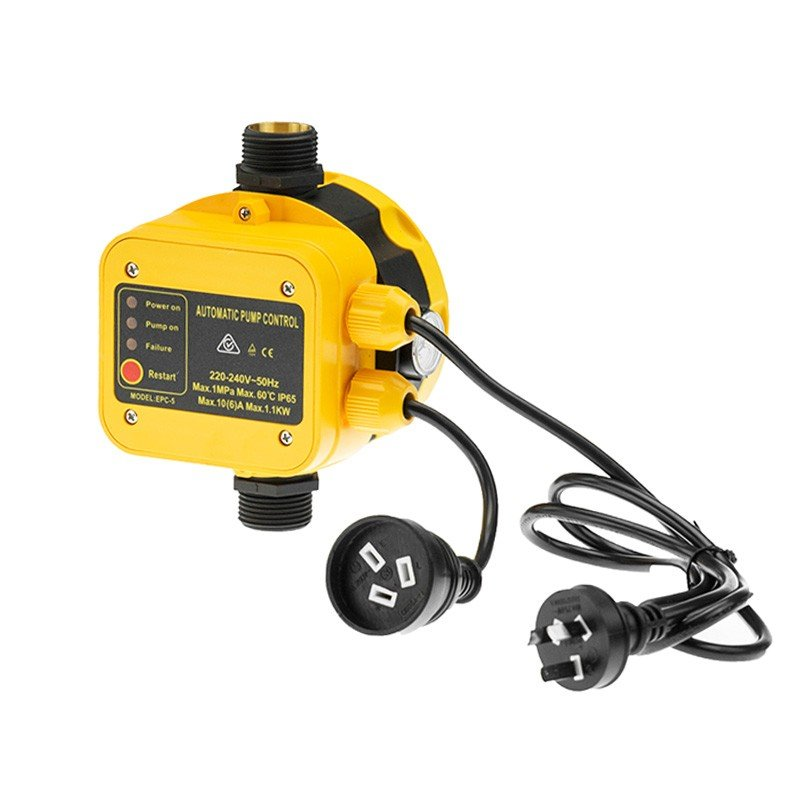 Automatic Water Pump Pressure Controller Switch - Yellow