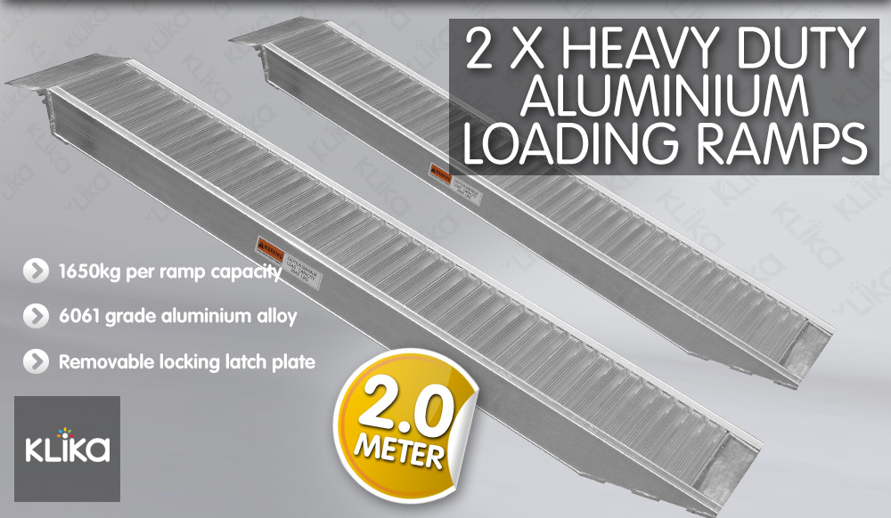 2-0M-LOADING-RAMPS-for-MOTORCYCLE-MOTORBIKE-QUAD-ATV-BOBCAT-TRAILER-TRUCK-DINGO