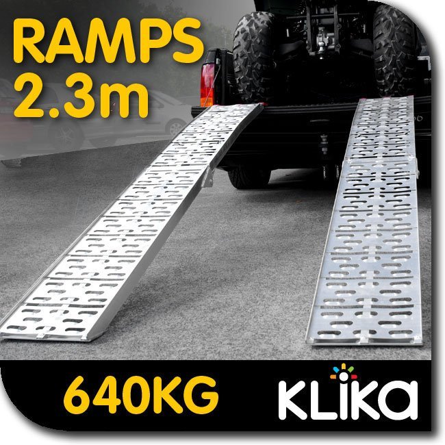 2X-ALUMINIUM-FOLDING-LOADING-RAMPS-ATV-Motorbike-Motorcycle-Golf-Buggy-trailer