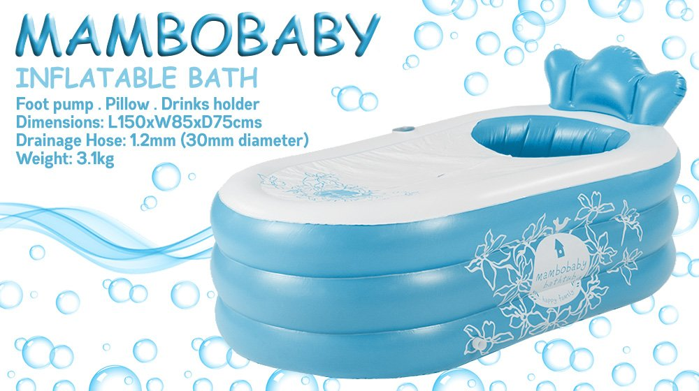 blow up bathtub baby new inflatable bath tub portable camping with pump blow up. Black Bedroom Furniture Sets. Home Design Ideas