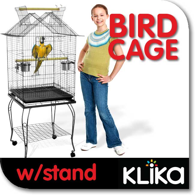 PET-WIRE-BIRD-BUDGIE-CANARY-PARROT-CAGE-AVIARY-WITH-STAND-AND-OPEN-PERCH-a101