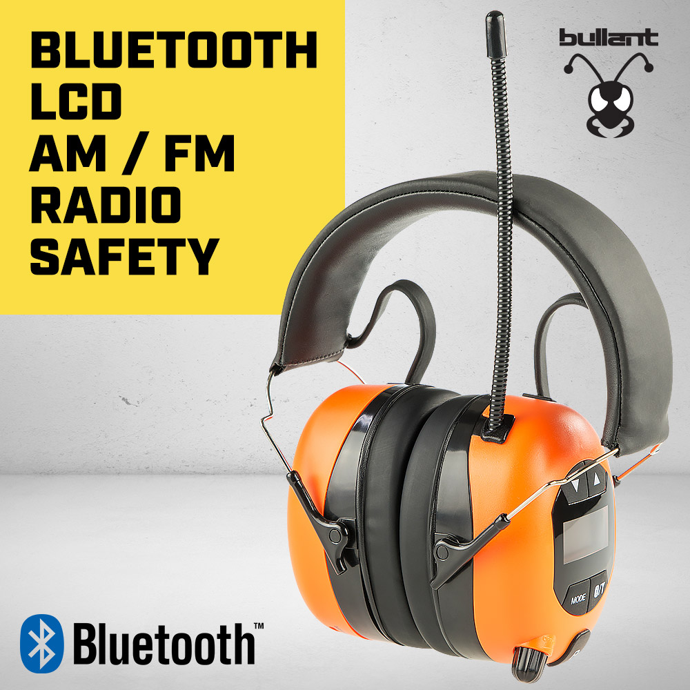 NEW BULLANT EARMUFFS HEADPHONES AM/FM RADIO BLUETOOTH MUFF