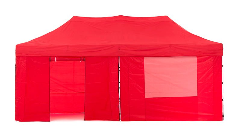 Gazebo Tent Marquee 3x6m PopUp Outdoor Wallaroo Red