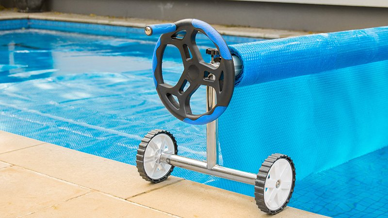Solar Swimming Pool Cover Roller Thermal Blanket Bubble Adjustable Reel Wheels Ebay