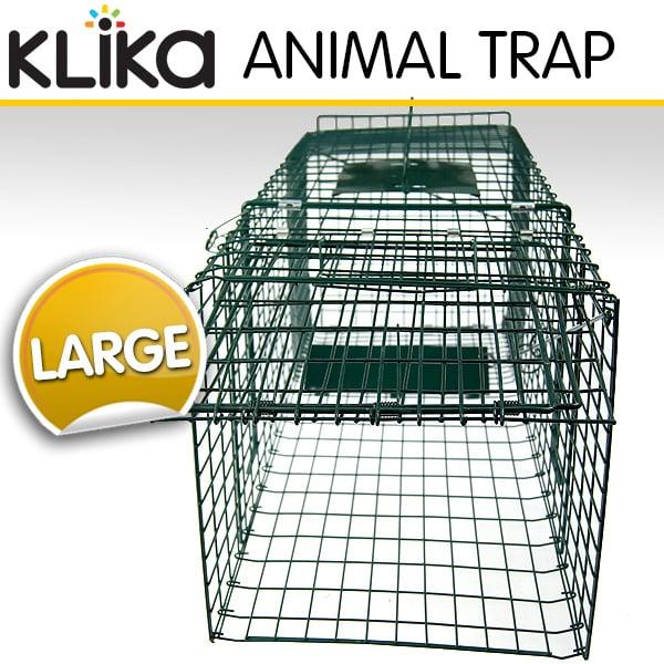 EXTRA-LARGE-HUMANE-LIVE-ANIMAL-TRAP-POSSUM-FOX-RAT-CAT-RABBIT-HARE-CATCHER-CAGE