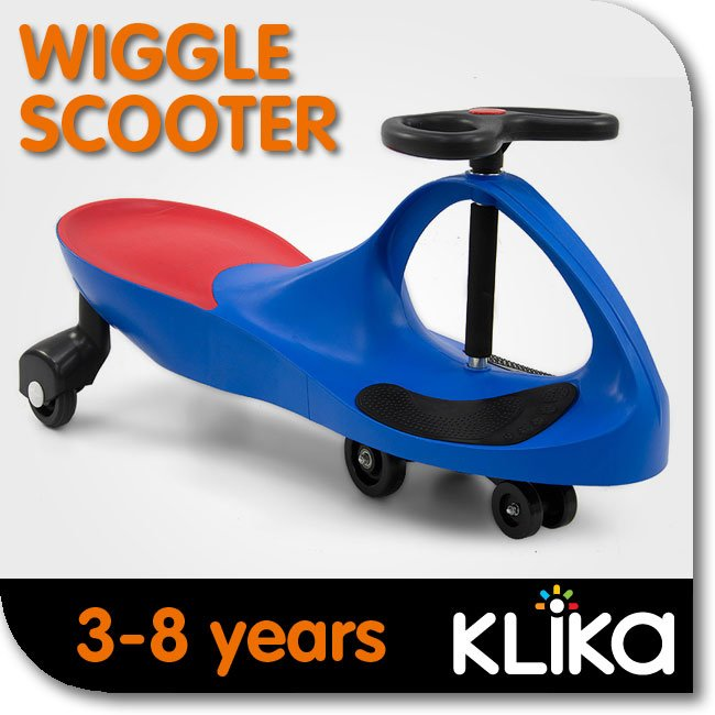 KIDS-RIDE-ON-TOY-CAR-WIGGLE-SWING-SCOOTER-BLUE-GREAT-CHILDRENS-GIFT