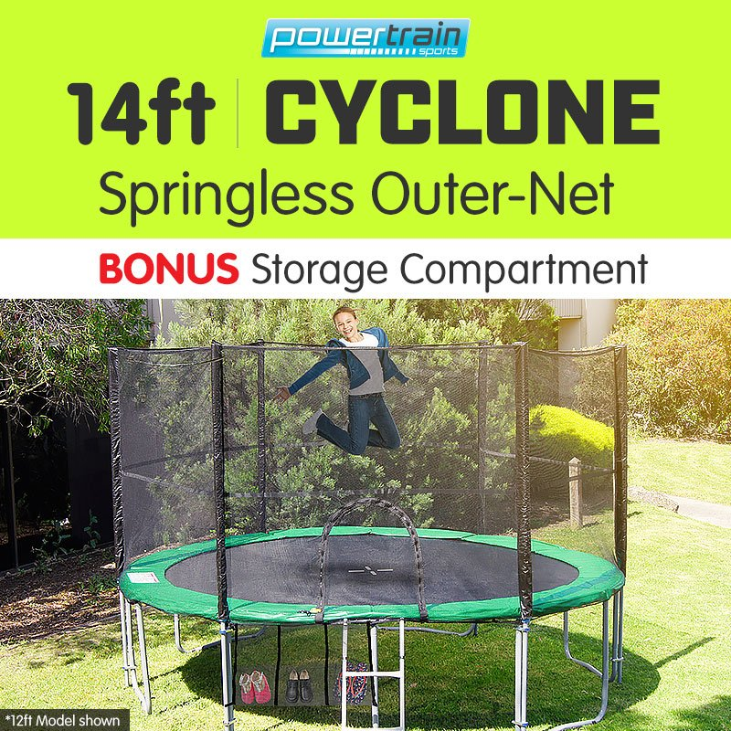 14ft 12 Post Springless Trampoline Free Safety Net Pad Mat
