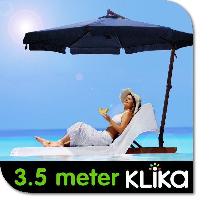 BLUE-3-5m-PATIO-GARDEN-MARKET-UMBRELLA-CANTILEVER-OUTDOOR-SHADE