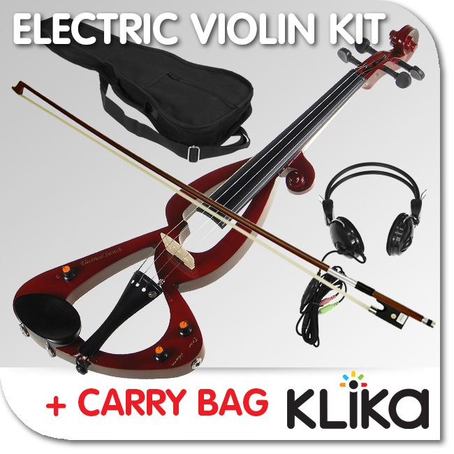 NEW-BROWN-4-4-ELECTRONIC-SILENT-ELECTRIC-VIOLIN-PLUS-BAG