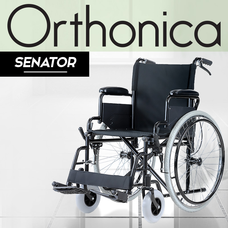 Orthonica Folding Wheelchair Manual Mobility Aid - Senator